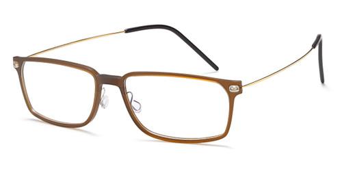 Brown/Gold Capri B754 Eyeglasses.