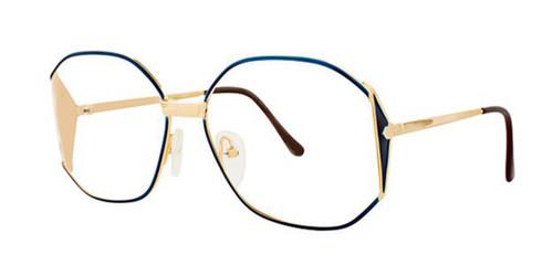 Blue/Gold Elan 151 Eyeglasses.