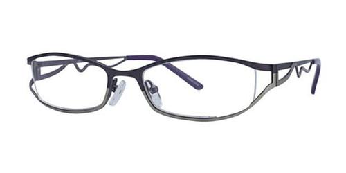 Brown/Lt. Brown Elan 9403 Eyeglasses.