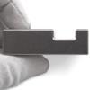 "Tungsten Bucking Bar BB-5: 1.67 lbs, Notched Side 3/4"" x 1.5"" x 2.5"""
