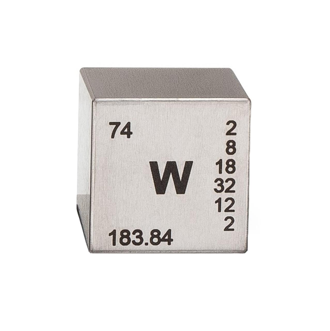 Tungsten Engraved Cube 0.5 B