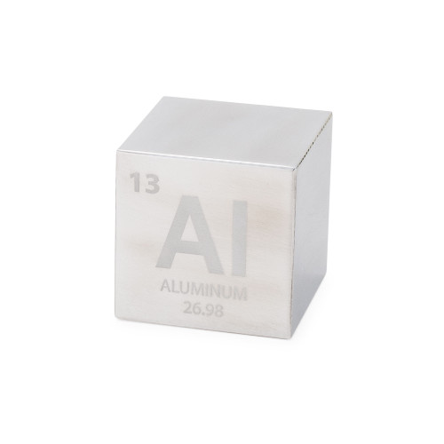 "Aluminum 1.5"" Cube - Engraved Periodic Table Symbol"