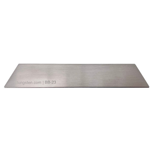 "Tungsten Bucking Bar BB-23: 4.15 lbs, 1.00"" x 1.30"" x 6.00"" long"