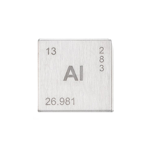 Aluminum Element Cube - Engraved - 1""