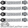 Set of Four Sexy Bitch Vest Extenders with Chrome Chain - AC1059-DL