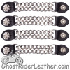 Set of Four Spike Design Vest Extenders with Chrome Chain - AC1081-DL