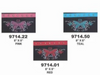 Ladies Studded Clip On Bag With Purple Or Teal Or Pink Or Red Butterfly Embroidery - SKU 9714-17-UN