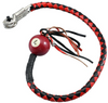 Get Back Whip - Black and Red Leather - With Pool Ball - 36 Inches - GBW6-BB-36-DL