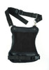 Black Leather Thigh Bag with Gun Holster Pocket - SKU DS5851-DS