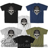 T-Shirt With Skully- Choice Of 5 Colors - T-Shirts Made For Riding - SKU FIT-006-FM