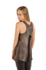 Women's Sleeveless Tank Shirt - Long Live The Brave Skull Graphic - Sleeveless - SKU 7509CHAR-DS