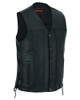 Leather Motorcycle Vest - Men's -Up To Size 8XL - Tapered Bottom - Big and Tall - DS161-TALL-DS