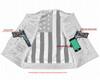 Leather Motorcycle Vest - Men's - USA Flag Liner - Gun Pockets - Up To 8XL - DS155-DS
