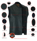 Concealed Carry Leather Vests - We Have Lots Of Choices