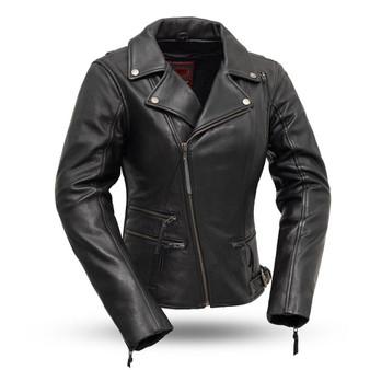 Monte Carlo - Women's Classic Leather Riding Jacket - SKU FIL160NOCZ-FM