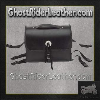 Motorcycle Leather Sissy Bar Bag with Braid  / SKU GRL-SB5007-DL
