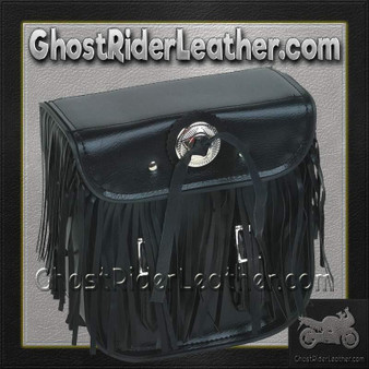Motorcycle Sissybar Bag with Fringe / SKU GRL-SB5004-DL