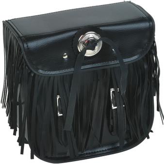 Motorcycle Sissy Bar Bag with Fringe For Motorcycle Storage - SKU SB5004-DL