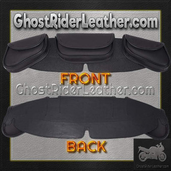Motorcycle Windshield Bag Set with 3 Compartments / SKU GRL-WS24-DL