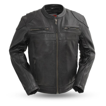 Nemesis - Men's Leather Motorcycle Jacket - SKU GRL-FIM295CHRZ-FM