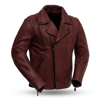 Night Rider - Men's Leather Motorcycle Jacket - SKU GRL-FIM269CPMZ-FM