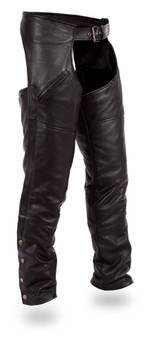 Nomad - Men's Leather Motorcycle Chaps - SKU GRL-FMM830BM-FM