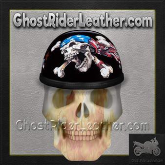 Novelty Patriot Skull Motorcycle Helmet - SKU GRL-6002P-DH