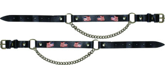 Pair of Biker Boot Chains - American Flag - SKU GRL-BC6-DL