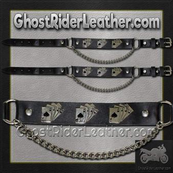Pair of Biker Boot Chains - Dead Mans Hand - SKU GRL-BC20-DL