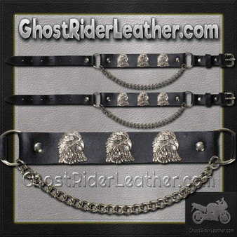 Pair of Biker Boot Chains - Eagle - SKU GRL-BC12-DL