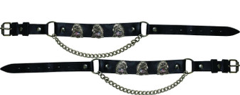 Pair of Biker Boot Chains - Eagle With USA Flag - SKU GRL-BC15-DL