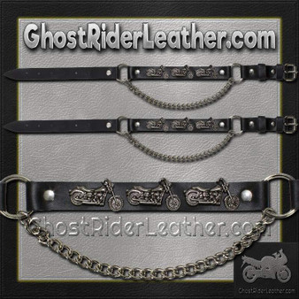 Pair of Biker Boot Chains - Motorcycle - SKU GRL-BC18-DL