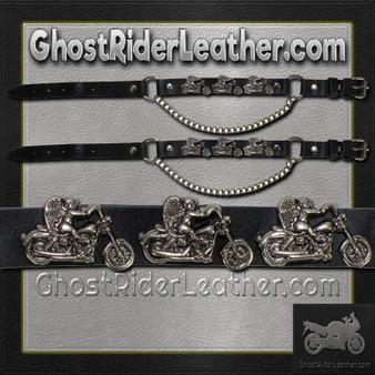 Pair of Biker Boot Chains - Motorcycle Angel - SKU GRL-BC1-DL