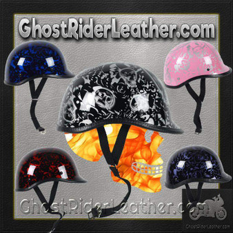 Polo Jockey Novelty Motorcycle Helmet Boneyard Colors - SKU GRL-BY-POLO-NOV-HI