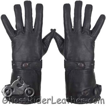 Premium Cowhide Long Leather Summer Riding Gauntlet Gloves - SKU GRL-GL2064-11-DL