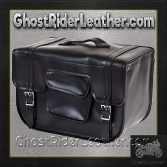 PVC Carry On Motorcycle Single Saddlebag / SKU GRL-SD12-PV-DL