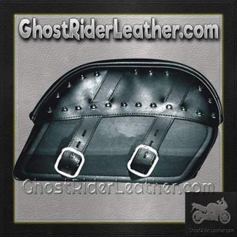 PVC Motorcycle Curved Top Slanted Saddlebags / SKU GRL-SD4083-PV-DL
