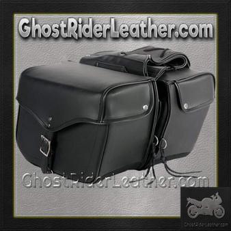 PVC Motorcycle Saddlebags Single Buckle Design / SKU GRL-SD1483-PV-DL