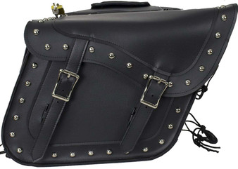 PVC Motorcycle Saddlebags With Studs and Gun Pockets - SKU SD4090-PV-DL