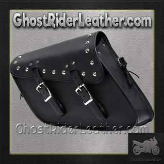 PVC Motorcycle Solo Swing Arm Bag with Studs / SKU GRL-SD4093-STUD-SOLO-DL