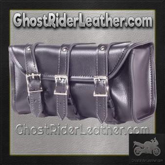 PVC Motorcycle Tool Bag - Fork Bag with 3 Straps 10 or 12 Inch / SKU GRL-TB3009-DL