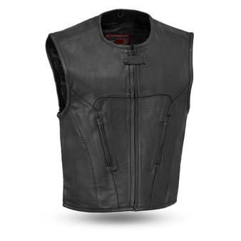 Raceway - Men's Perforated Swat Style Naked Leather Vest - SKU FIM647CDM-FM