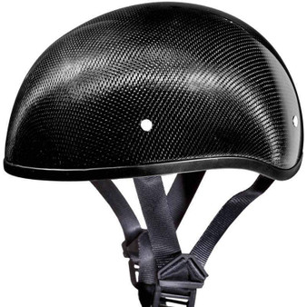 Real Carbon Fiber DOT Daytona Skull Cap Motorcycle Helmet With Or Without Visor - SKU GRL-DS-G-GNS-DH