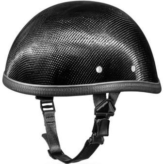 Real Carbon Fiber Eagle Style Novelty Motorcycle Helmet - SKU GRL-2002G-DH