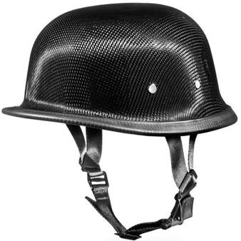 Real Carbon Fiber German Style Novelty Motorcycle Helmet - SKU 2004G-DH