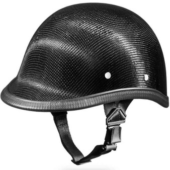Real Carbon Fiber Jockey Polo Style Novelty Motorcycle Helmet - SKU 2003G-DH