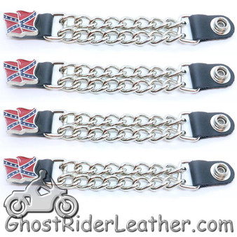 Rebel Flag Vest Extenders - Set Of Four - SKU GRL-VE124D-DS