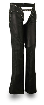Riser - Low Rise Ladies Leather Motorcycle Chaps - SKU FIL750NOC-FM