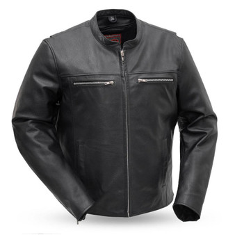Rocky - Men's Motorcycle Leather Jacket - SKU GRL-FIM215CSLZ-FM