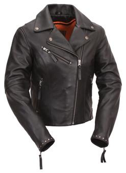 Scarlett Star - Women's Motorcycle Leather Jacket - SKU FIL159NOCZ-FM
